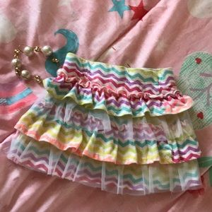 Cute multicolored girls skirt 3t